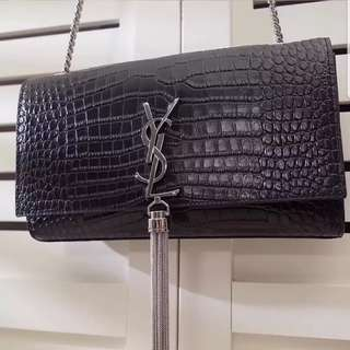 YSL Tassel Bag Croc print