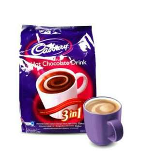 TERMURAH!! Cadbury hot chocolate drink 3in1 isi 15 sachets Halal