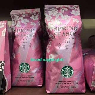 靚日本櫻花咖啡豆starbucks