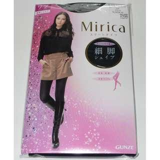 GUNZE 郡是  Mirica Smart Tights 60針細腳秋冬保暖修腿絲襪褲 (幼條紋)MCW42 L~LL