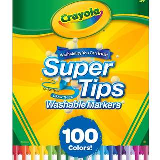Crayola Super Tips Washable Markers, 100 Count, Bulk, Great for Kids