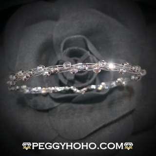 【Peggyhoho】全新18K白金手厄 經典系列  簡約獨特