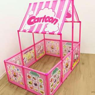 CARTOON PLAYARD WITH ROOF