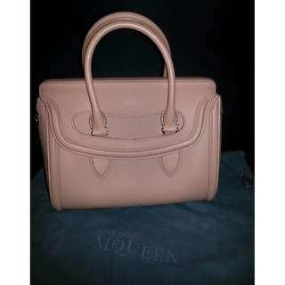 QYOP Alexander McQueen Patchouli Heroine Leather Tote Bag