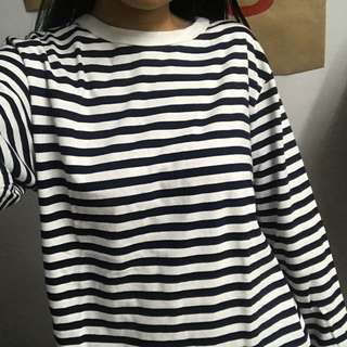 Beauty & youth Blue and white striped top
