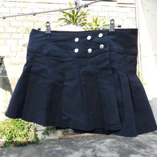 Wrap pleated mini skirt