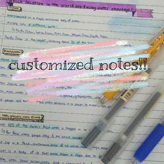 [open] customized notes!!