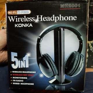 Wireless Headphones 室內無錢耳筒超勁MH2001