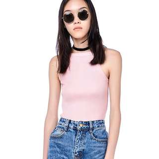 The Editor's Market Jelia Ribbed Knit Crop Top