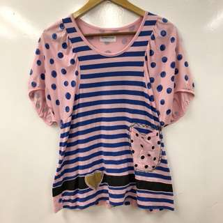 TC pink and blue tee top size 2
