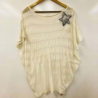 TC white loose top size 2