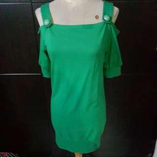 Dress hijau sabrina