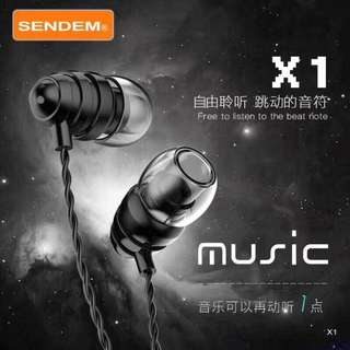 SENDEM Extra Bass Stereo Earphones with Call Answer Button