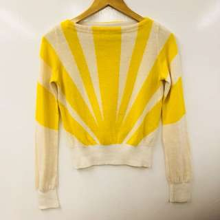 TC yellow and beige sweater size 2