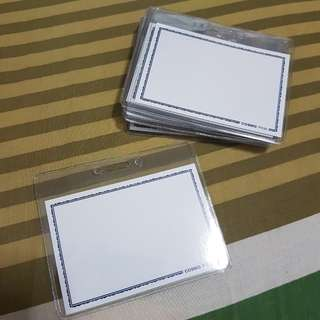Plastic Clear Card Holders