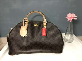 Coach Peyton Signature Domed Cora Satchel