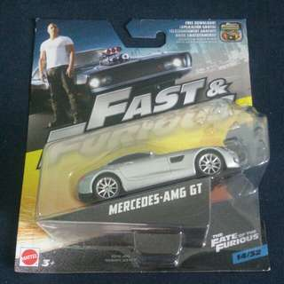 Mattel The Fate Of The Furious - Mercedes - AMG GT