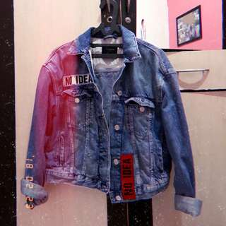 Zara denim/ Denim jacket/jaket/ zara jacket
