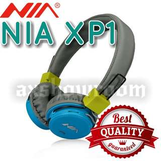 NIA Top Model XP1 With Advance DSP Processing Bluetooth Headphone   Original NIA XP1 Wireless Stereo Bluetooth Headphones Which Support App Control - Downloadable Via Android Play Store Or Apple iOS Store.