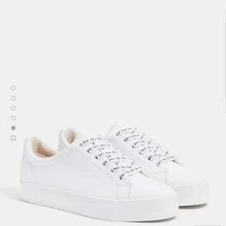 Bershka White Sneakers / white shoes