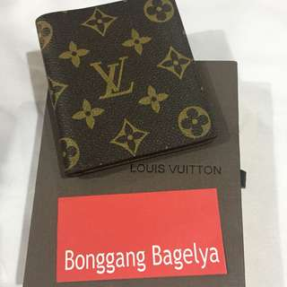 LV Monogram Mens Wallet with flaw