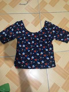 Scoopback blouse