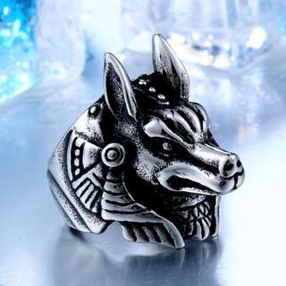Anubis Stainless Steel Ring