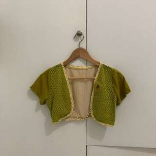 Nude Green Cardigan