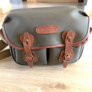Billingham Hadley Small Camera Bag (Sage with Tan Leather Trim)