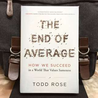# Highly Recommended《Bran-New + 2016 Hardcover Edition + If You Design A Cockpit To Fit The Average Pilot, You Designed It To Fit NO ONE.》Todd Rose - THE END OF AVERAGE : How We Succeed in a World That Values Sameness