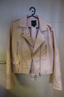 Forever 21 Nude Leather Jacket