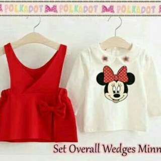 Set overall wedges minnie kids