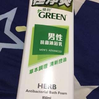 綠的GREEN男性抗菌沐浴乳850ml