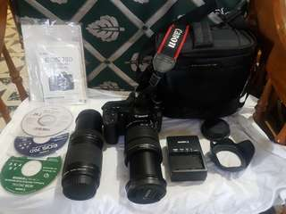 REPRICED!!!    70D Canon DSLR with 18mm-135mm lens for PhP 33k and EFS 55mm-250mm lens for only 5K (09178502921)