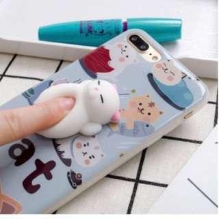 Cute cat squishy case (iphone 7)
