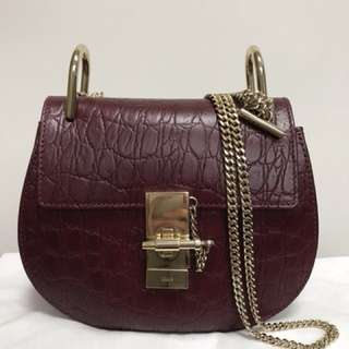 Chloe Mini Drew bag in textured leather