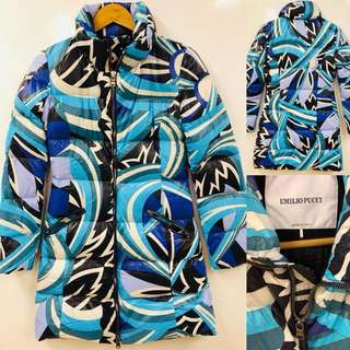 Emilio Pucci blue colors down jacket size I 38