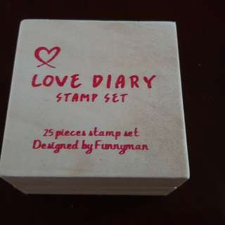Love Diary Stamp Set (25 pieces) Designed by Funnyman