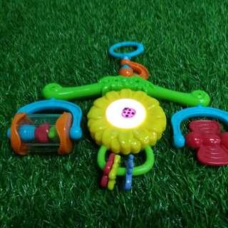 Musical stroller car seat hanging toy