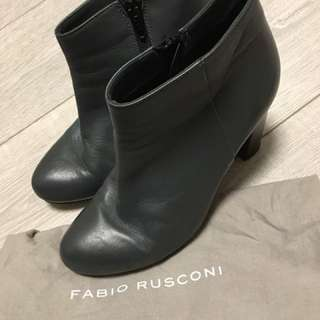 Fabio Rusconi Grey Ankle Boots