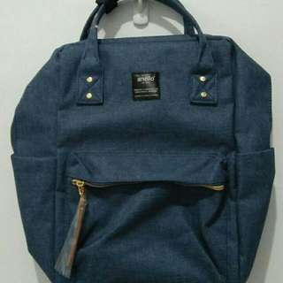New With Tag Anello Denim Backpack Large