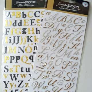 decorative alphabet stickers