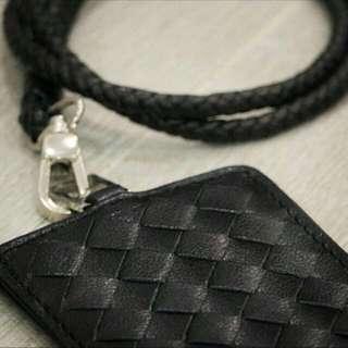 Leather lanyard (black)