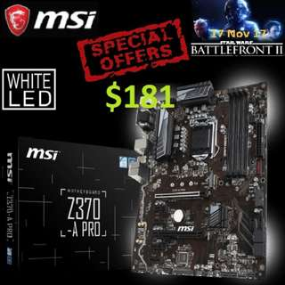 MSI Z370-A PRO, DDR4 MEMORY, SOCKET 1151  ( Special Offer )