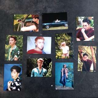 EXO THE WAR UNOFFICIAL PHOTOCARDS