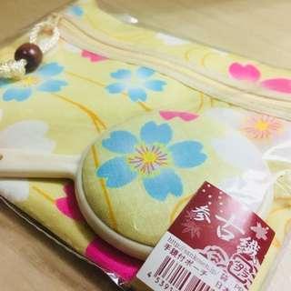 日式小化妝袋連鏡仔