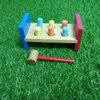 Wooden hammer toy