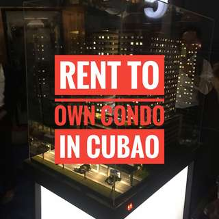 RENT TO OWN CONDO IN CUBAO QUEZON CITY 7500 monthly near MRT AND LRT