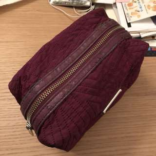 Armani Exchange purple make-up bag