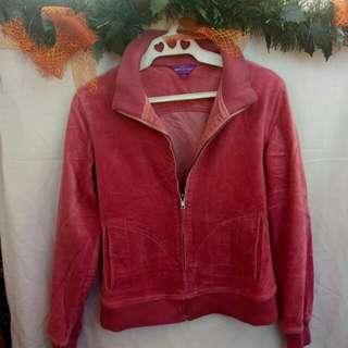 Rose old velvet-y denim jacket